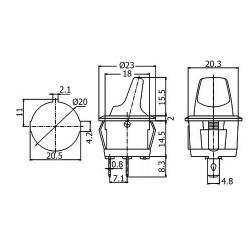 RADIATOR ALUMINIOWY 100x100x18mm
