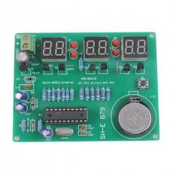ZEGAR LED 5V-12V KIT AT89C2051 CZERWONY