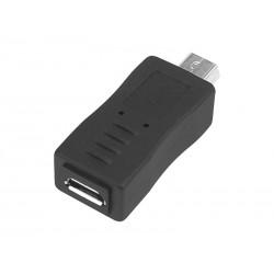 ADAPTER GNIAZDO MICRO USB - WTYK MINI USB