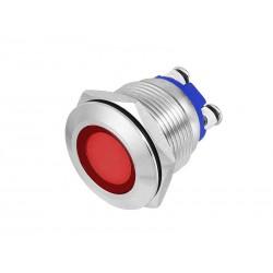 KONTROLKA LED 22mm CZERWONA 230V