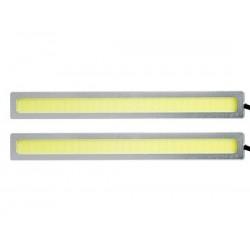LAMPA LED 2X4W BIAŁA ZIMNA SREBRNA 175mm