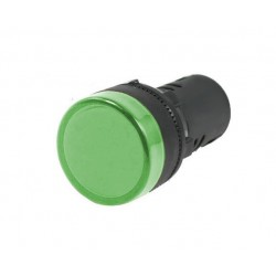 KONTROLKA LED ZIELONA 28mm/230V AC