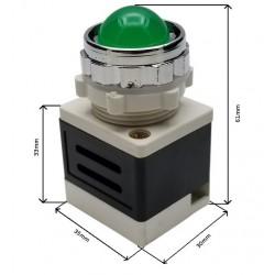 KONTROLKA LED ZIELONA  230V  AD11-25/40