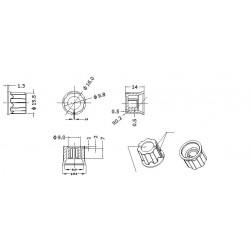 KONEKTOR ŻEŃSKI 2,8 mm 1,5 MM -10 SZT SREBRNY