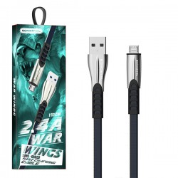 KABEL USB MICRO 2.4A SOMOSTEL NIEBIESKI