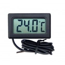 PANELOWY TERMOMETR LCD -50°C do 100°C CZARNY
