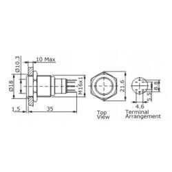 RURKA TERMOKURCZLIWA 2mb 1.0 - 0.6mm CZERWONA